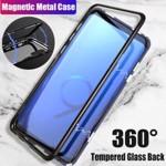 Husa Samsung Galaxy S9 PLUS Magnetica 360 grade BLACK Elegance Luxury cu spate de sticla securizata premium 01hms9pn