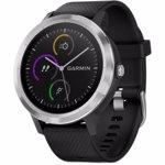 GARMIN Ceas Smartwatch vivoactive 3, GPS, Argintiu, curea silicon neagra