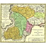 Harta Moldova, Valahia si Basarabia 1769