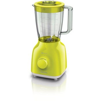 Philips Blender Daily Collection HR2100/40, 400 W, 1.25 l, 2 viteze, Pulse, galben lime