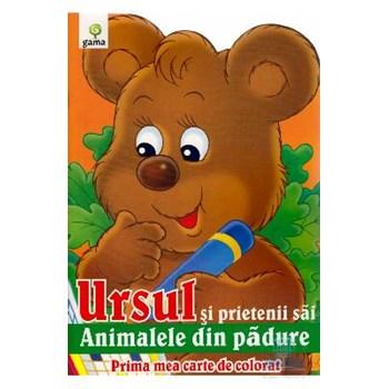 Ursul si prietenii sai - Prima mea carte de colorat