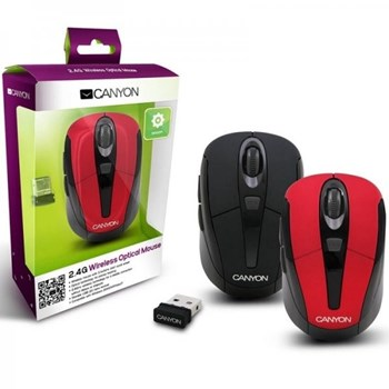 Mouse Laptop Wireless Canyon CNR-MSOW06R Red cnr-msow06r