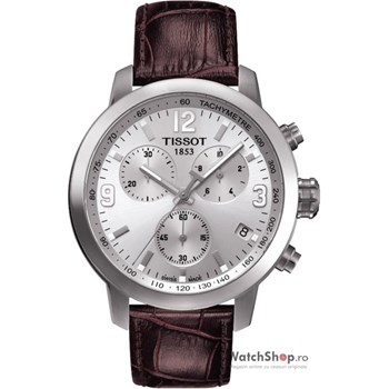 Tissot T0554171603700 42mm Stainless Steel Case Brown Leather Anti-Reflective Sapphire Men's Watch
