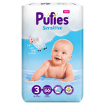 Scutece / Scutece Pufies Sensitive Nr 3, 6 - 10 Kg, 66 buc