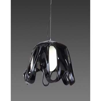 Lustra Mantra M3741 Phantom Pendant 1 Light Gloss Black