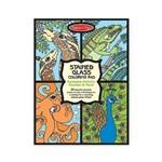 Set de colorat vitralii cu animale Melissa and Doug md4385