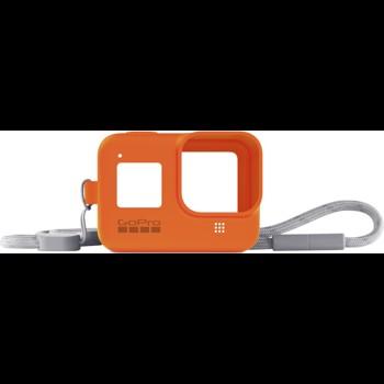 Sistem prindere si transport GoPro Sleeve + Snur, Portocaliu pentru Hero8 Black