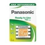 Pachet acumulator Panasonic Evolta Rechargeable 750mAh AAA cu 4 buc.