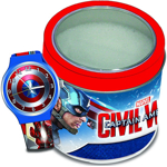 Ceas Junior MARVEL - CAPTAIN AMERICA - Tin Box 8003013