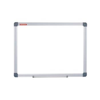 Tabla magnetica Whiteboard prezentari, 120x90 cm, rama aluminiu, fixare perete