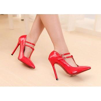 CH2254-3 Pantofi stiletto cu barete subtiri