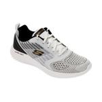 Pantofi sport SKECHERS alb-negru, Bounder Verkona, din material textil