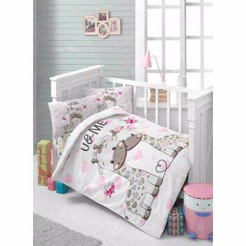 Set lenjerie de pat pentru copii Patik, din bumbac ranforce 100 procente, 100 x 150 cm, 170PTK2011