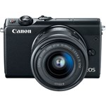 Aparat foto Mirrorless Canon EOS M100, 24.2 MP, Black + Obiectiv 15-45 mm