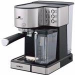 Espressor semi-automat Samus Latte Gusto, 20 bari, 1.8 L, Rezervor lapte 0.5 L, Functie Capuccino, Functie Latte, Funcție de curățare, Duză abur pentru cappuccino, Compatibil PAD-uri ESE, Gri/Inox