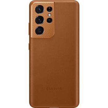 Carcasa Leather Cover pentru SAMSUNG Galaxy S21 Ultra, EF-VG998LAEGWW, piele naturala, maro