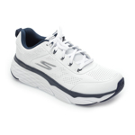 Pantofi sport SKECHERS albi, Max Cushioning Elite Lucid, din piele naturala