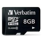 MICRO SD VERBATIM 8GB SDHC CLASS 10 44012