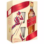 Whisky Johnnie Walker Red Label, 0.7L + 2 pahare