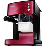 Espressor Breville Prima Latte VCF046X-01, 1.5L, 15 bari, Recipient lapte 300ml (Rosu/Negru)