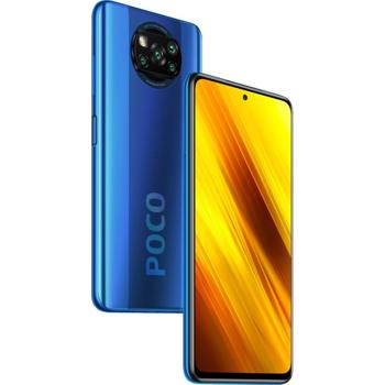 Smartphone Xiaomi Poco X3 NFC, Display 120Hz, Snapdragon 732G, 64GB, 6GB RAM, Dual SIM, 4G, NFC, 5-Camere, Fast Charging 33W, Baterie 5160 mAh, Android 10, Cobalt Blue