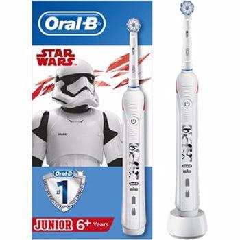 Periuta de dinti electrica ORAL-B Junior Star Wars, 9900 oscilatii/min, Curatare 3D, 2 programe, 1 capat, alb
