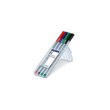 Fineliner Staedtler Triplus 0.3mm 4 culori / set Staedtler ST334SB4