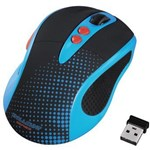 Mouse Wireless HAMA Knallbunt 2.0, 2000dpi, albastru