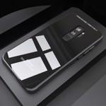 Husa Samsung Galaxy S9, MyStyle Back Glass, husa cu sticla securizata pe spate de culoare neagra