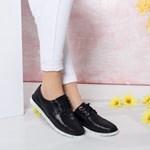 Pantofi dama Piele Sinit negri casual