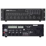 Consola DJ MIXER CU AMPLIFICARE 100V 240W 5 ZONE +SIRENA