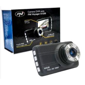 """Camera auto PNI Voyager S1250 , cu DVR, Full HD 1080p, LCD 3"""", G-senzor, Card microSD 16Gb inclus"""