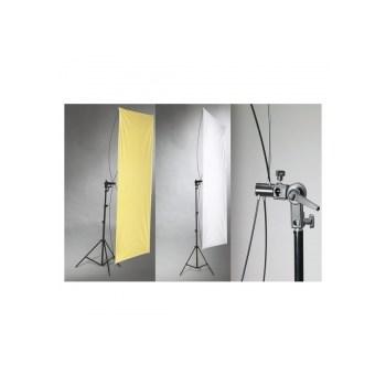 Kast blenda reflexie Silver/Gold, 90x180cm, cu suport si stativ