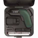 Surubelnita cu acumulator Bosch IXO 6, 3.6 V, 215 RPM, incarcator micro-USB, 10 capete de surubelnita standard, cutie (Verde)