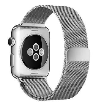 Curea pentru Apple Watch Silver Milanese Loop iUni 38mm Otel Inoxidabil