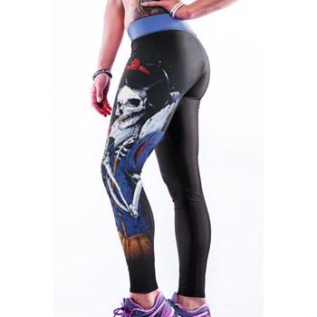 CL486 Colanti sport cu imprimeu 3D Evil Skull Queen