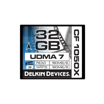 Delkin CF 32GB 1050X Cinema - card memorie UDMA 7