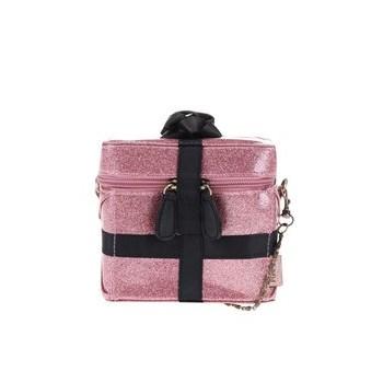 Geanta de cosmetice Pompon roz sclipitor de la Disaster