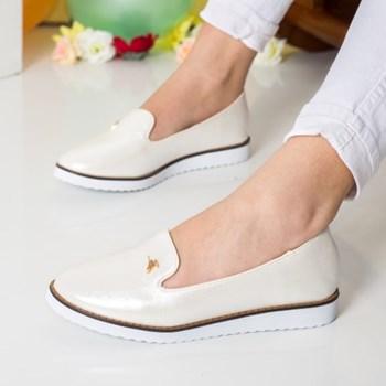 Pantofi dama Sandover albi comozi