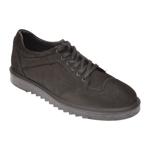 Pantofi OTTER negri, P0312, din nabuc