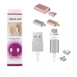 Cablu magnetic USB la alegere Tip C, Micro USB, Lightning (Iphone), pentru incarcare si transfer date