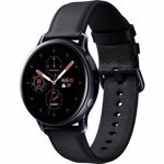 SmartWatch Samsung Galaxy Watch Active 2 (2019), 40 mm, otel negru, curea piele negru, LTE, Wi-Fi, Bluetooth, GPS, NFC, rezistent la apa