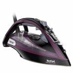 Fier de calcat Tefal Ultimate Pure FV9840E0, 3200 W, 55 g/min, AirGlide Autoclean, Negru/Violet