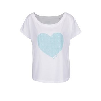 Tricou alb de dama ZOOT Original cu heart print