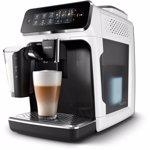 Espressor automat Philips EP3243/50, sistem de lapte LatteGo, 5 bauturi, filtru AquaClean, rasnita ceramica, optiune cafea macinata, ecran tactil, Alb