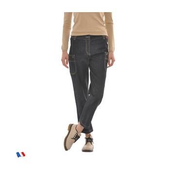 Jeans negru din bumbac