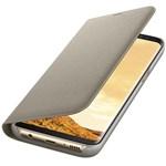 Husa Flip Led View SAMSUNG Galaxy S8, EF-NG950PFEGWW, Gold