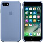Husa de protectie Apple pentru iPhone 8 / iPhone 7, Silicon, Azure