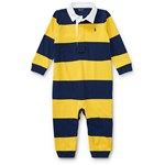 Ralph Lauren Striped Cotton Rugby Coverall Culoarea Mountain Gold Multi