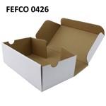 Cutie cu autoformare 200x100x35 mm alba, carton microondul E, FEFCO 0426